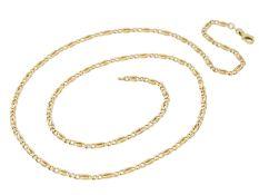 Kette/Collier: lange GoldketteCa. 61cm lang, ca. 12,8g, 14K Gelbgold, ca. 3mm breit, Federring,