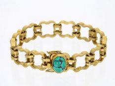 Armband: außergewöhnlich gearbeitetes, hochwertiges vintage Armband mit TürkisbesatzCa. 18cm lang,
