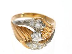 Ring: besonders schön und aufwändig gearbeiteter antiker Brillantring, vermutlich um 1940Ca. Ø20,