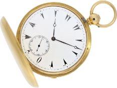 Taschenuhr: äußerst seltene 18K Goldsavonnette mit 8-Tage-Werk, England für den osmanischen Markt,