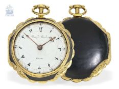 Taschenuhr: dekorative Doppelgehäuse-Spindeluhr mit Repetition, gefertigt für den osmanischen Markt,
