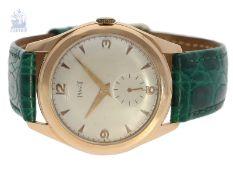 Armbanduhr: große, rotgoldene vintage Herrenuhr von Piaget, vermutlich 50er JahreCa. Ø35mm, 18K