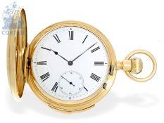 Taschenuhr: sehr schwere Goldsavonnette mit Minutenrepetition, englische Bauweise, hohe Qualität, um