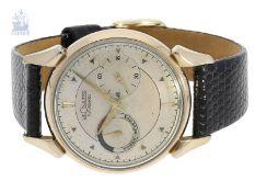 """Armbanduhr: frühe, gesuchte vintage Le Coulte """"Futurematic"""", ca.1950Ca. Ø35mm, goldfilled,"""