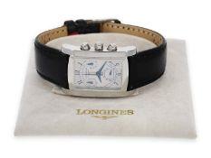"""Armbanduhr: eleganter Stahl Chronograph, Longines """"Dolce Vita"""", Ref. L5. 656.4, mit OriginalboxCa."""