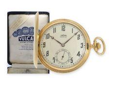 """Taschenuhr: hochfeine Ditisheim Goldsavonnette """"Chronometre Vulcain"""", komplett originaler Zustand"""