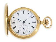 """Taschenuhr: hochfeine und seltene Goldsavonnette mit """"Seconde Morte"""", L. Tissot & Cie. Genf, No."""