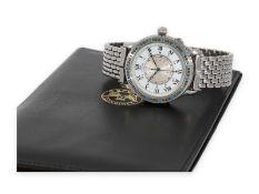 "Armbanduhr: vintage Longines Fliegeruhr ""Longines Lindbergh Hour Angle"" von 1992 mit Box, Papieren"