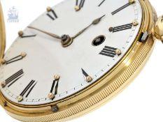 Taschenuhr: extrem seltene Blindenuhr-Goldsavonnette, 18K Gold, englische Hallmarks 1840, James