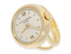 Ringuhr: außergewöhnliche Ringuhr, signiert Patek Philippe, vermutlich 30er JahreCa. Ø20mm, rundes