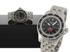 Armbanduhr: professionelle Taucheruhr, wasserdicht bis 1000m, Alpha Time SSI, limitiert auf 2