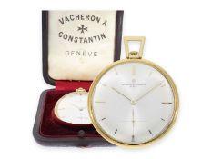 Taschenuhr: sehr seltene, große Vacheron & Constantin Frackuhr mit Originalbox, Ref.6211, 50er