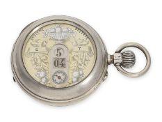 Taschenuhr: seltene digitale Taschenuhr mit springender Stunde und springender Minute, Marke
