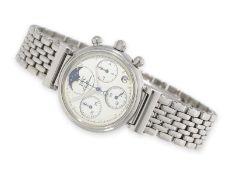 """Armbanduhr: luxuriöse Damenuhr, IWC """"Da Vinci Lady"""" Chronograph mit Mondphase Ref.3736, Box und"""