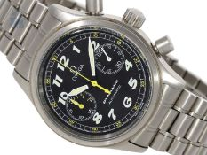 Armbanduhr: großer Sport-Chronograph, Omega Dynamic Automatik in Edelstahl mit Originalbox, ca.