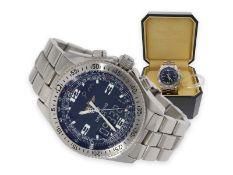"""Armbanduhr: sportlicher, seltener Breitling Chronograph in ausgezeichnetem Zustand, Breitling """"B-1"""