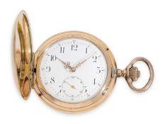 Taschenuhr: schweres, rotgoldenes Ankerchronometer, Teutonia, Hoeter & Cie. La Chaux-de-Fonds, ca.