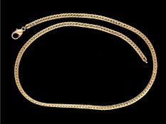 Kette/Collier: klassische, neuwertige GoldketteCa. 43cm lang, ca. 17,5g, 14K Gelbgold, ca. 3,5mm