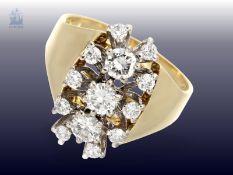 Ring: sehr schöner vintage Brillant-Goldschmiedering, ca. 1,15ctCa. Ø18,5mm, RG59, ca. 10g, 18K