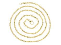Kette/Collier: neuwertige, lange GoldketteCa. 60cm lang, ca. 12,1g, 8K Gelbgold, ca. 2,5mm stark,