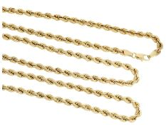 Kette/Collier: neuwertige Goldkette in dekorativem ZopfmusterCa. 88cm lang, ca. 14,5g, 8K