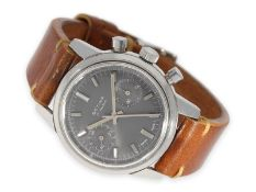 Wristwatch: almost like new very large stainless steel chronograph, ca. 1960, manufacturer A.