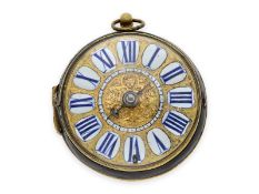 Pocket watch: early single-handed Louis XIV Oignon with central winding, Gaudron Paris, Royal