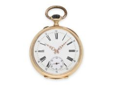 Pocket watch: early pink gold precision pocket watch, signed J. Calame Robert, Ankerchronometer