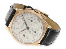 "Wristwatch: rare pink gold Universal Geneve Chronograph ""Compax"", Ref. 12491, from the 50'sCa."