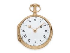 Pocket watch: early, pink gold verge watch, signed Mallet Paris, ca. 1770Ca. Ø43mm, ca. 49g, 18K