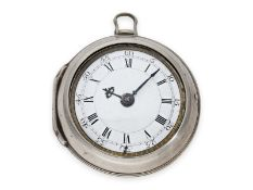 Pocket watch: early London pair case verge watch with rare signature, G. Graham London No. 2013,