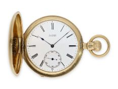 Pocket watch: exceptionally early and heavy A. Lange Dresden gold hunting case watch in best
