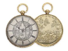 Pocket watch: extremely thin Lepine with rare Bagnolet calibre and extremely elaborate case and dial