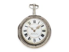 Pocket watch: exceptionally large and rare South German verge watch with very rare a toc & a tact
