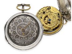 "Pocket watch: early large English ""Oignon"" with date and mock pendulum, John May London No. 5565,"