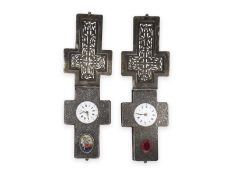 Pendant watch: rare pair of crucifix pendant watches, probably Vienna around 1870Ca. 85 × 45mm, each
