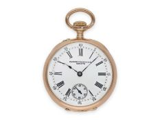 Pocket watch: pink gold Patek Philippe lady's watch with very rare calibre, Geneva around 1895Ca.