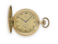 Taschenuhr: sehr schöne Art déco Goldsavonnette der Marke Alpina, ca.1930Ca. Ø50mm, ca. 85g, 14K