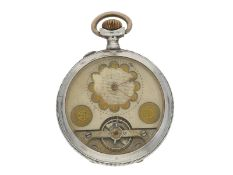 Taschenuhr: silberne Hebdomas Taschenuhr mit 8-Tage-Werk, ca. 1920Ca. Ø49mm, ca. 83g, Silbergehäuse,