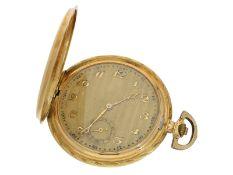 Taschenuhr: sehr schöne Art déco Goldsavonnette mit Schachbrett-Dekor, ca. 1930Ca. Ø53mm, ca. 70g,