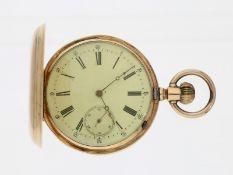 Taschenuhr: gut erhaltene, frühe goldene Savonnette, um 1870, vermutlich Schweiz für den