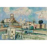 Lot 17 - Werner Gilles1894 Rheydt - 1961 Essen - Marokko - Aquarell/Papier. 46 x 105 cm (