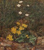 Lot 48 - Rudolf Kroll1895 Glauchau - 1972 Glauchau - Blumen und Gras an Bachlauf - Öl/Lwd. 45,4 x 40 cm.