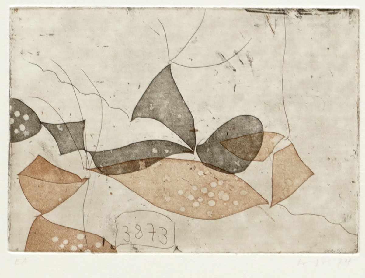 """Lot 10 - Ulrich BührlenKünstler des 20. Jahrhunderts - """"Im Herbst"""" - Farbradierung/Papier. E. A. 10,5 x 15"""