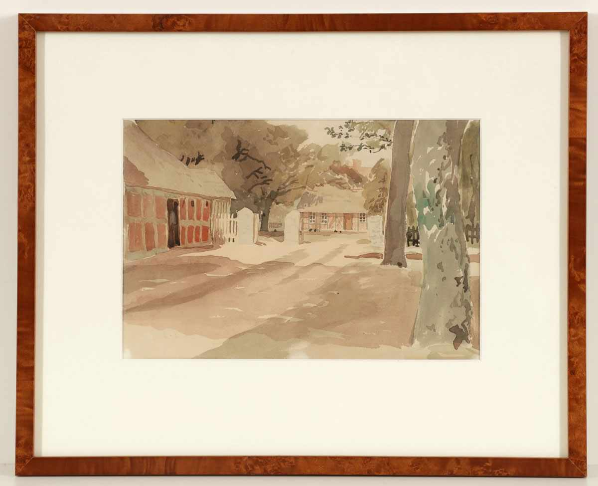 Lot 51 - Künstler des 20. Jahrhunderts- Bauernhof - Aquarell/Papier. 19,3 29 cm (Passepartoutausschnitt).