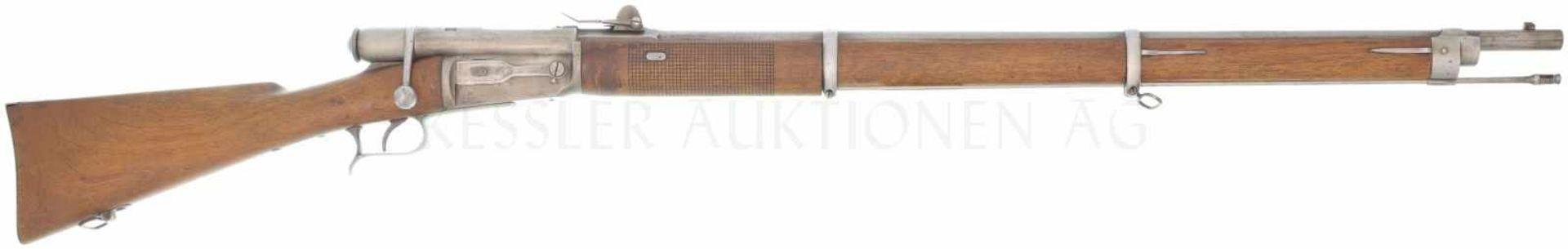 Repetiergewehr, W. v. Steiger, Thun, Vetterli M 1869/70, Kal. 10.4RFmm LL 840mm, TL 1300mm,