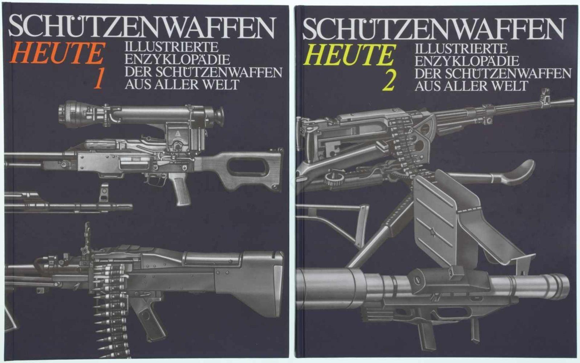 """Konvolut von 2 Büchern """"Schützenwaffen heute, 1945-1985"""" Illustrierte Enzyklopädie der"""