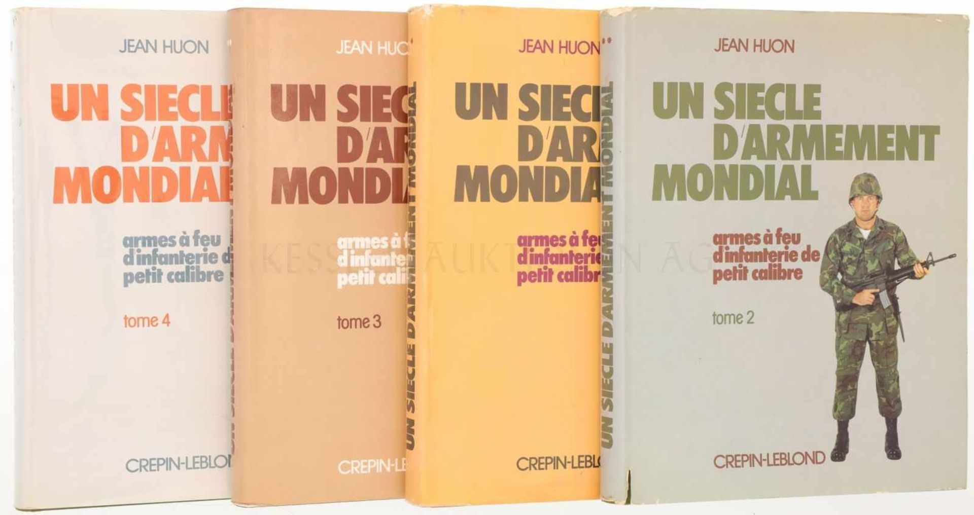 """Konvolut von 4 Büchern """"Un Siecle D'Armement Mondial, Armes a feu d'infanterie de petit calibre"""""""