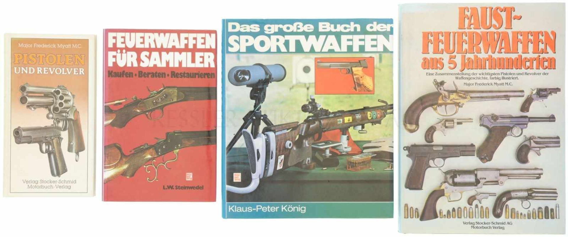 Konvolut von 4 Büchern 1. Das grosse Buch der Sportwaffen, Autor Klaus-Peter König, Motorbuch