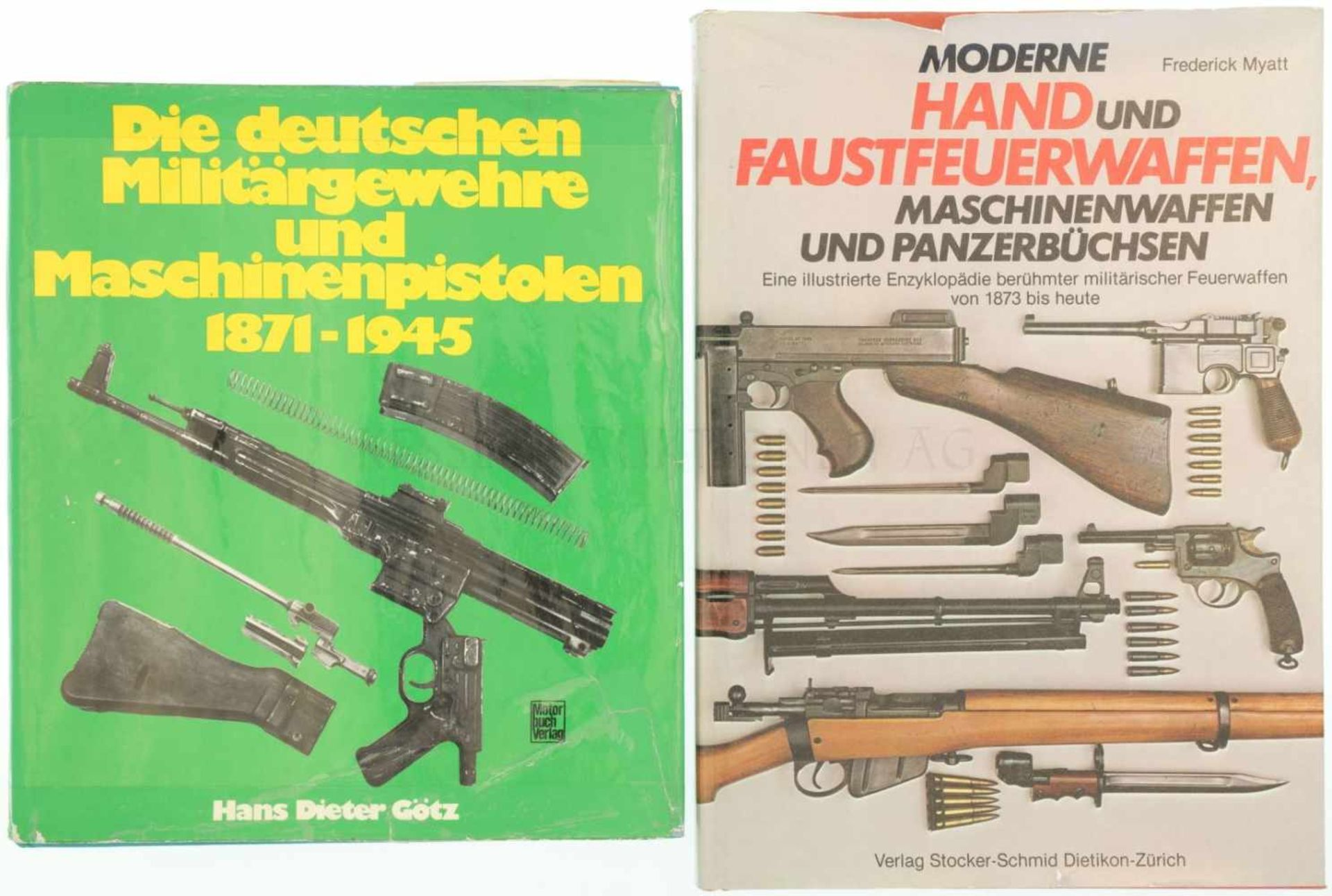 Konvolut 2 Bücher 1. Die deutschen Militärgewehre und Maschinenpistolen, 1871-1945, Autor Hans